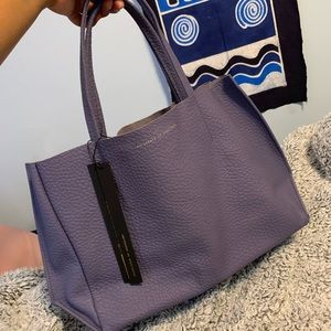 Ampersand as Apostrophe Periwinkle Tote +crdholder